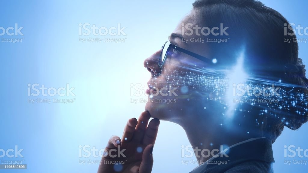 Thinking woman concept. Imagination. Creative. - Royalty-free Abstract Stock Photo