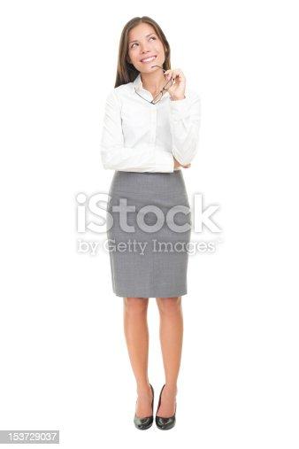 618976144 istock photo Thinking woman on white background 153729037