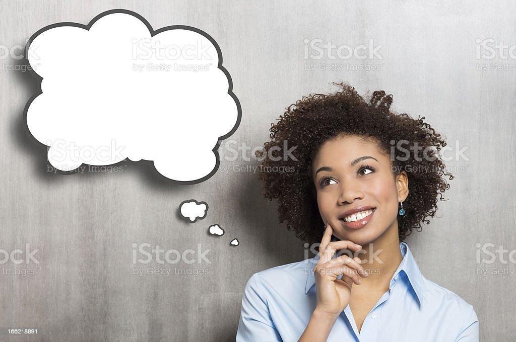 Pensando mulher - foto de acervo