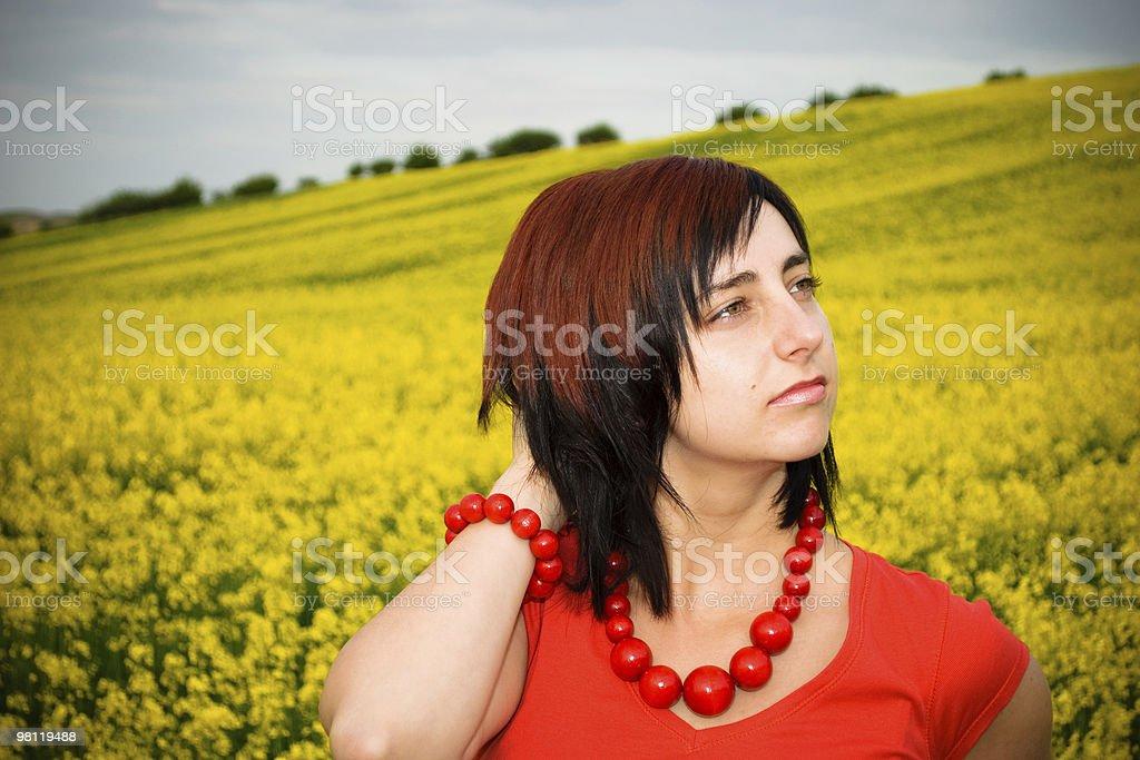 Thinking Woman royalty-free stock photo