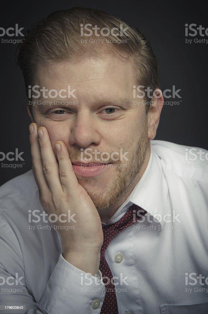 Thinking Young Man royalty-free stock photo