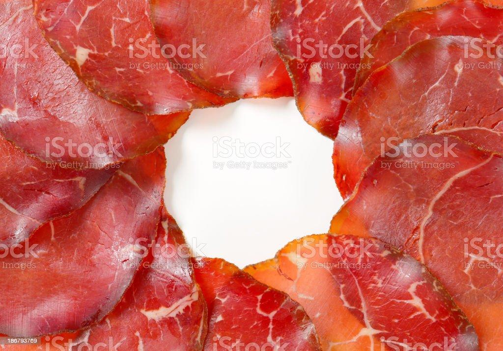 Thin-sliced smoked beef royalty-free stock photo