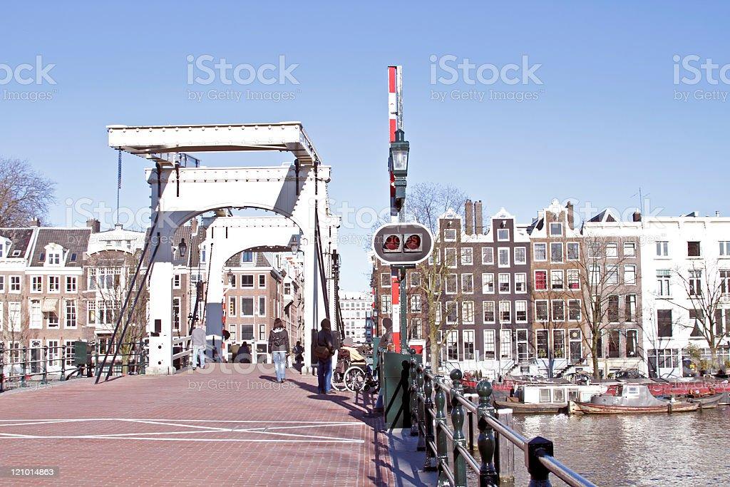 Thiny bridge in Amsterdam the Netherlands stock photo