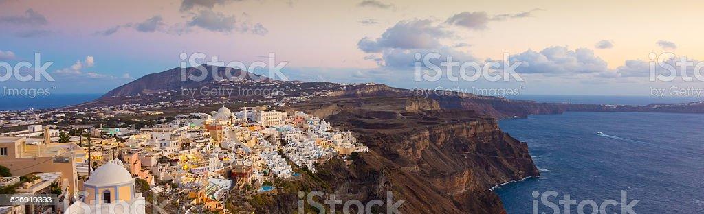 Thira, Santorini, Greece. stock photo