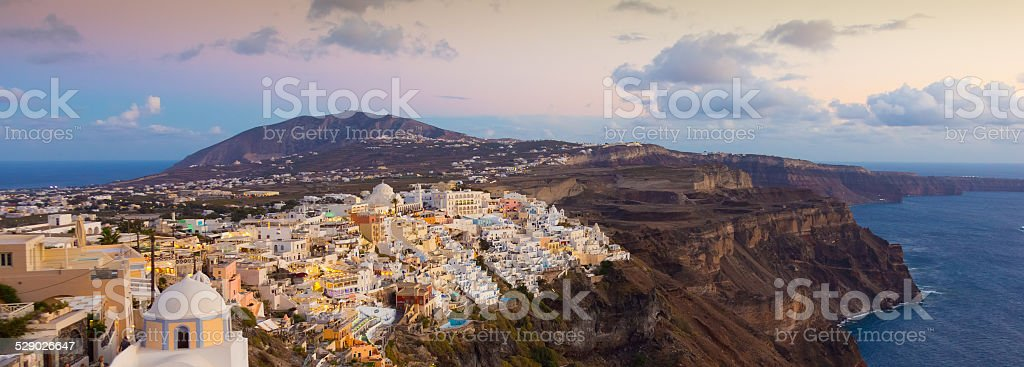 Thira des, Santorin, Griechenland. Lizenzfreies stock-foto