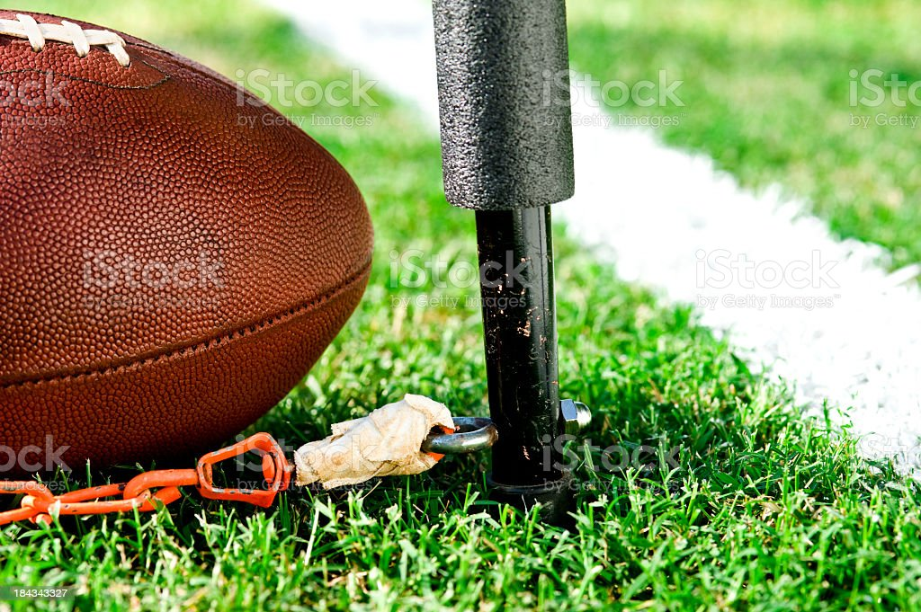 Third and Short measurement - American Football royalty-free stock photo