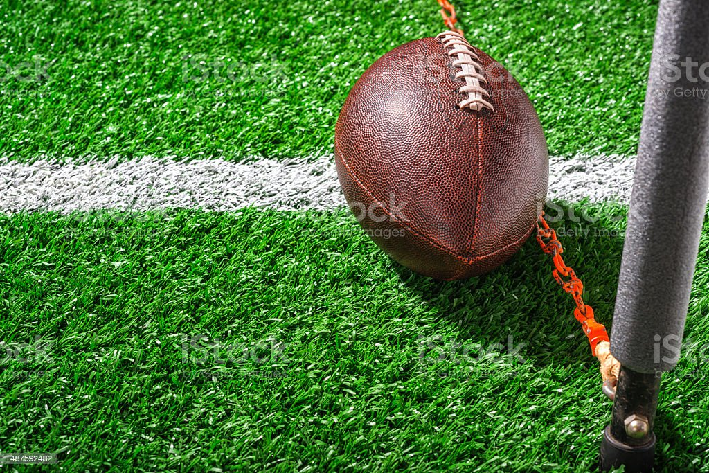 Third and Short Measurement - American Football stock photo