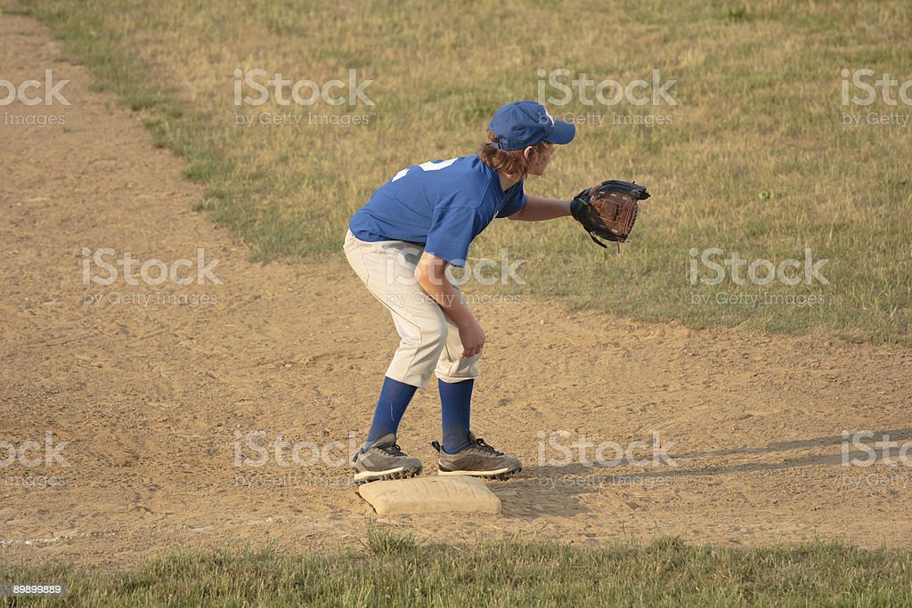 Third Baseman in Baseball stock photo