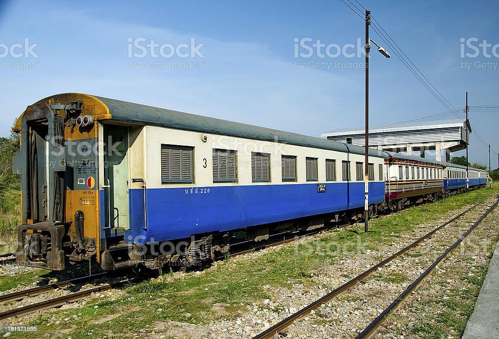 Third class passenger bogie of the train royalty-free stock photo