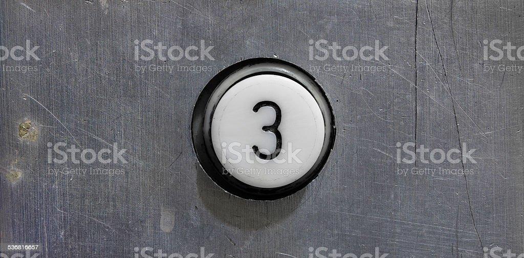 Botón del tercer piso - foto de stock