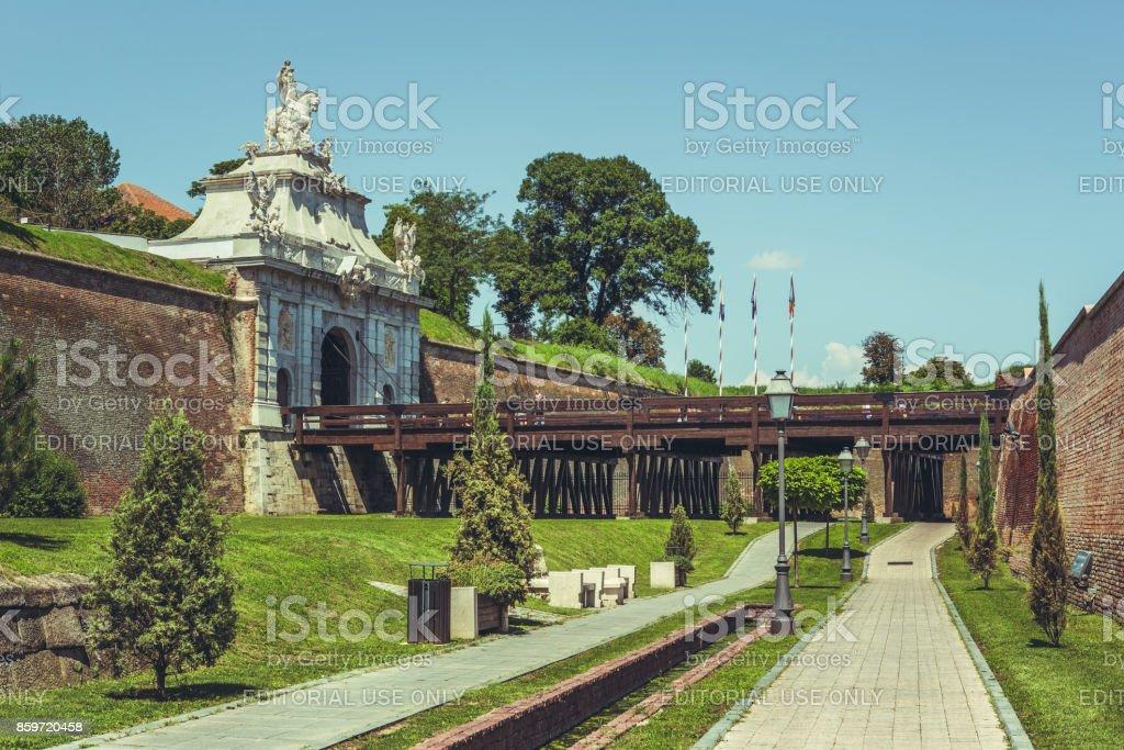 Third Gate of the White Carolina Fortress stock photo