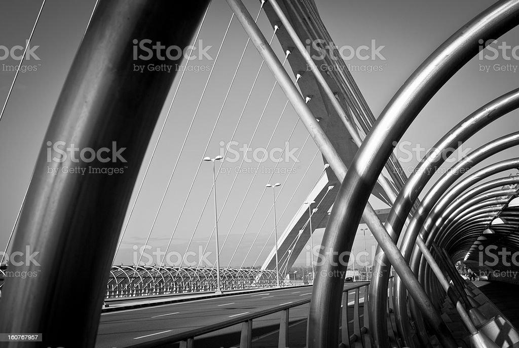 Third Millennium Bridge, Zaragoza royalty-free stock photo