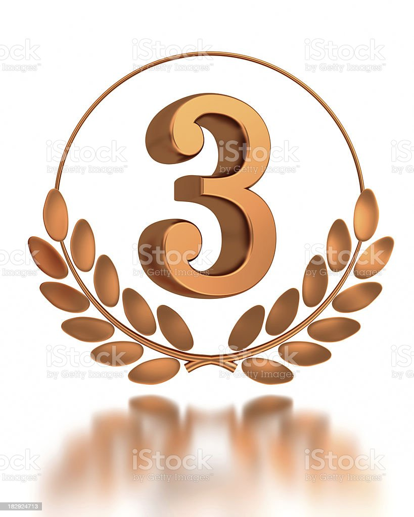 third place royalty-free stock photo