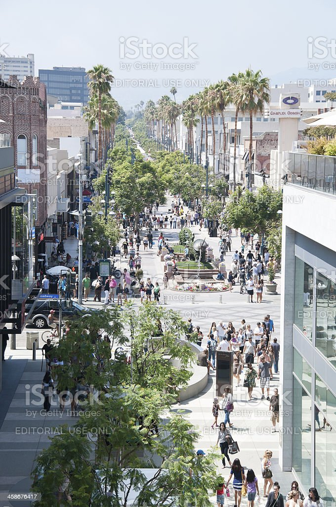 third street promenade in Santa monica royalty-free stock photo