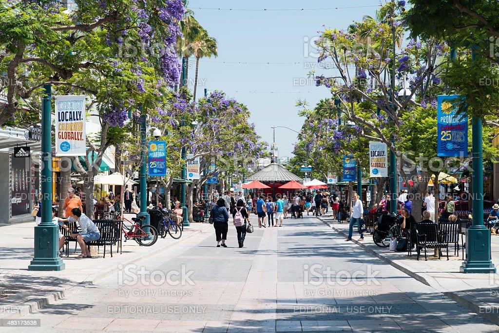Third Street Promenade stock photo