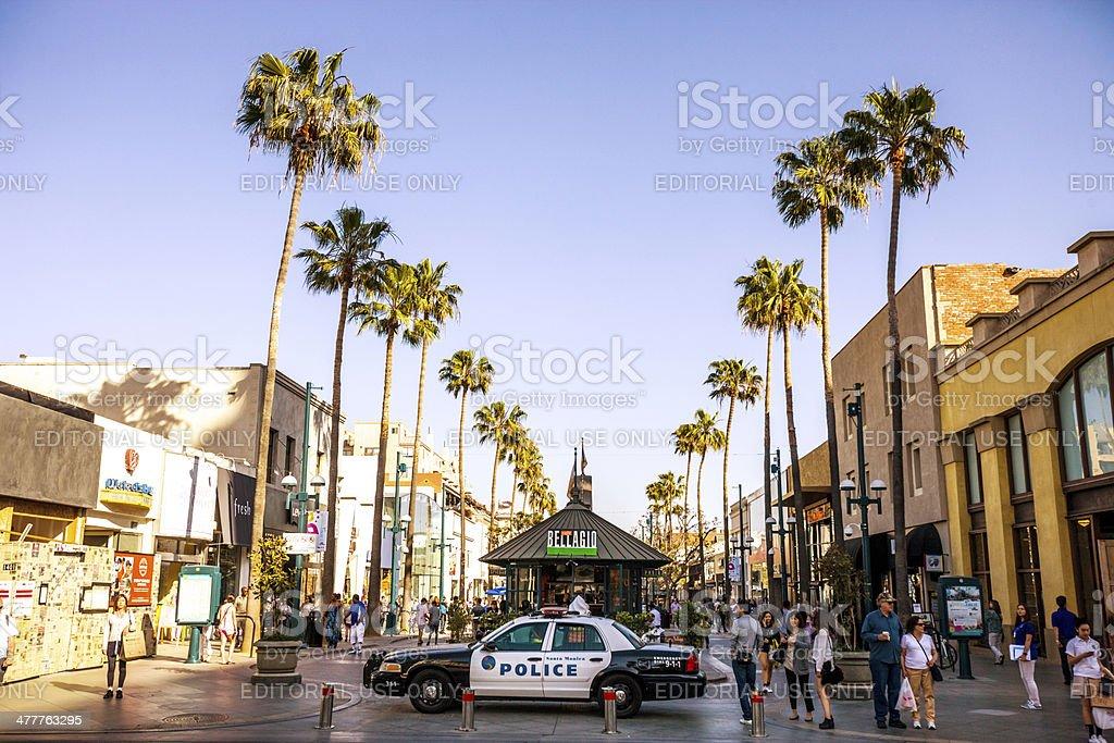 Third Street Promenade, Santa Monica stock photo