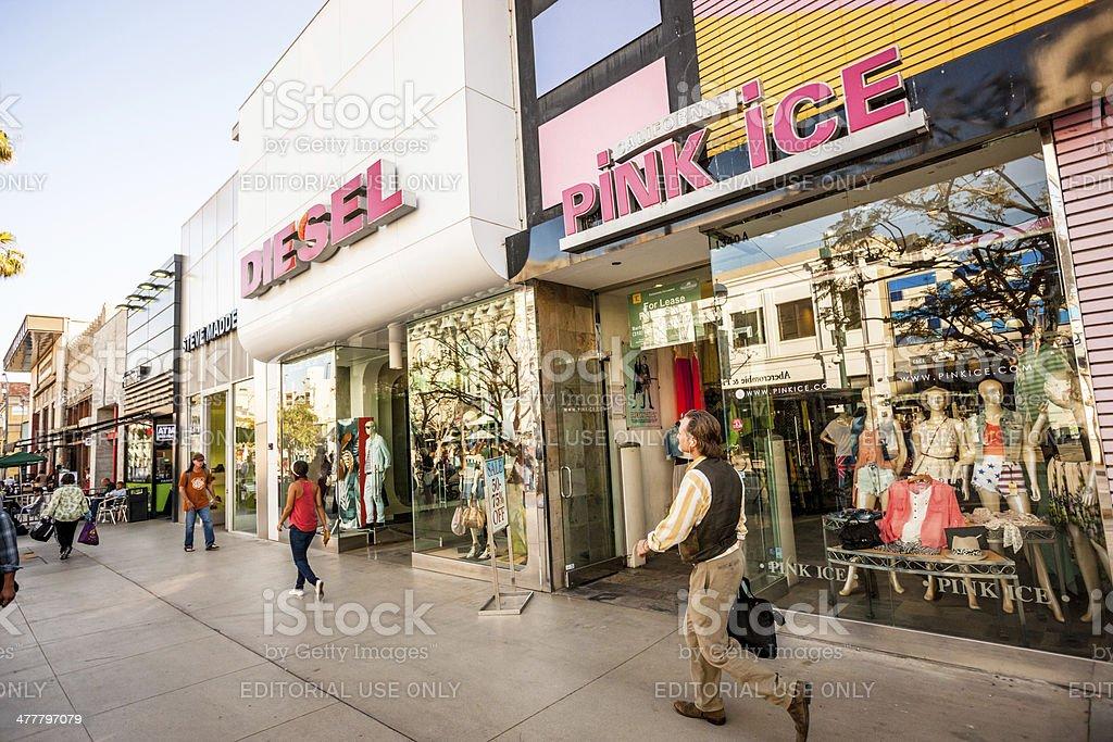 Third Street Promenade Shopping, Santa Monica, USA stock photo