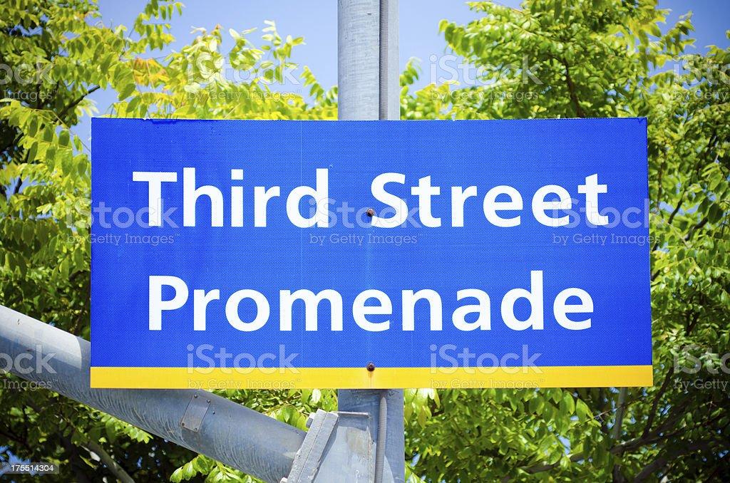 Third Street Promenade sign located in Santa Monica, CA stock photo