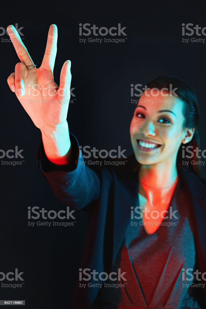Third time's the charm stock photo