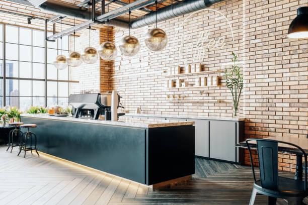 제3웨이브 커피숍 인테리어 - 모던 양식 뉴스 사진 이미지