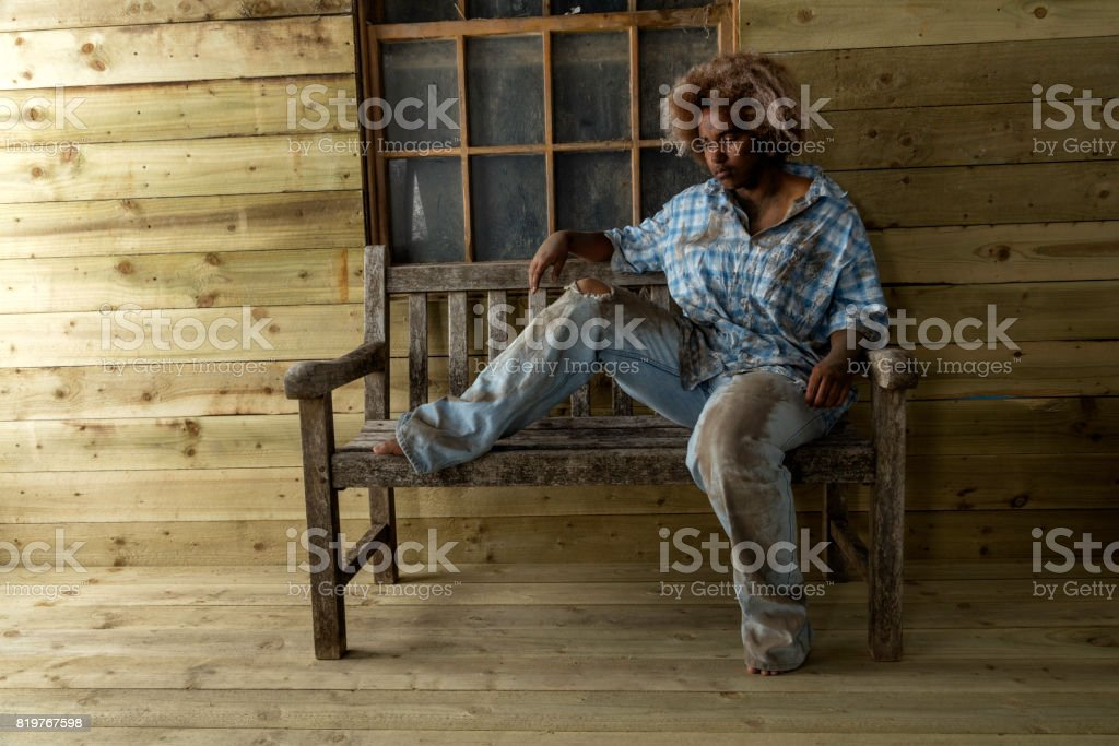 Third world manual worker stock photo