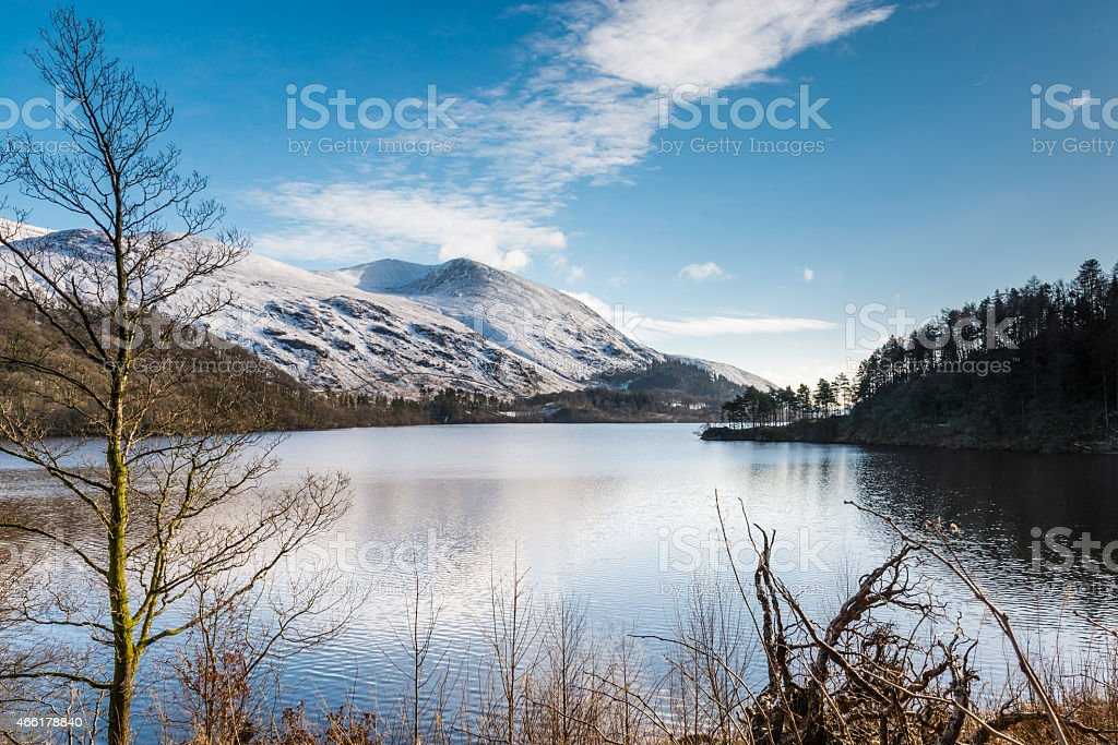 Thirlmere Reservoir and Helvellyn stock photo