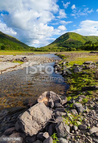 A small stream feeding into Thirlmere Reservoir in the English Lake District.