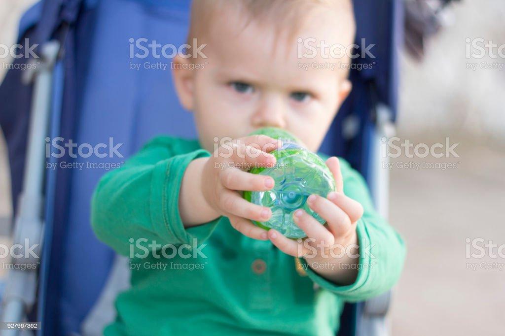 Thirsty Baby stock photo