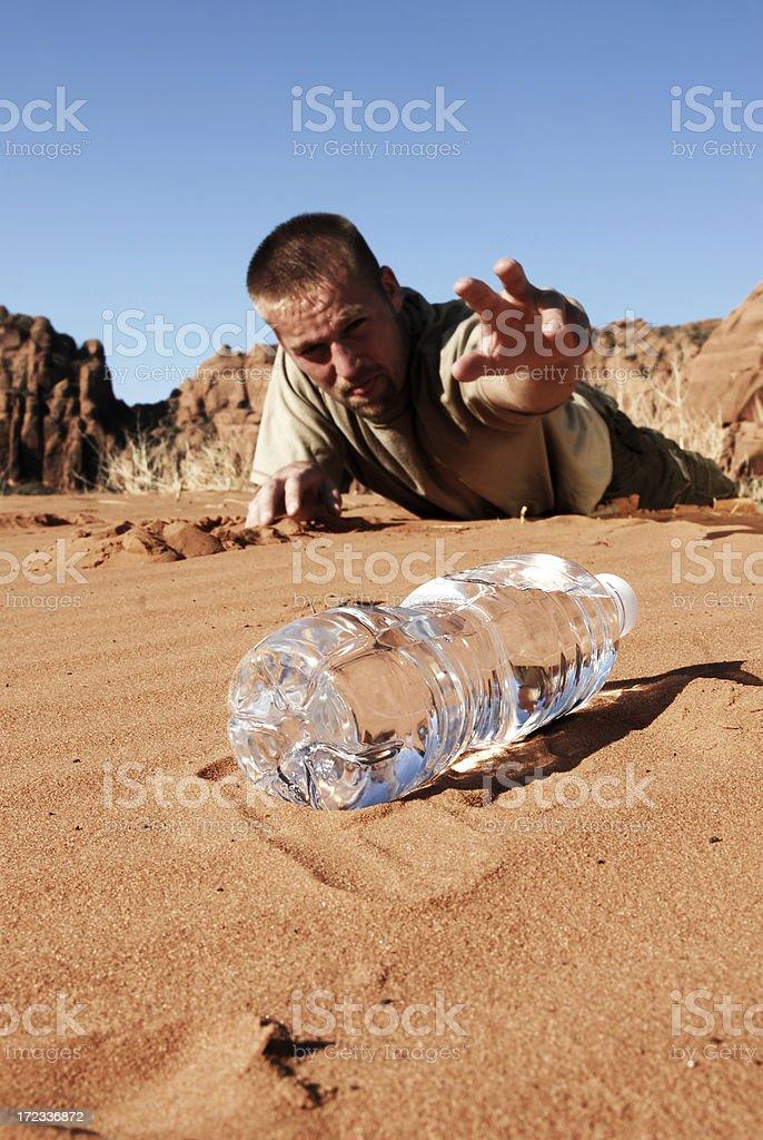 Thirsty Man stock photo