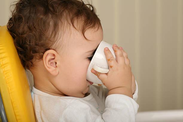 Thirsty toddler