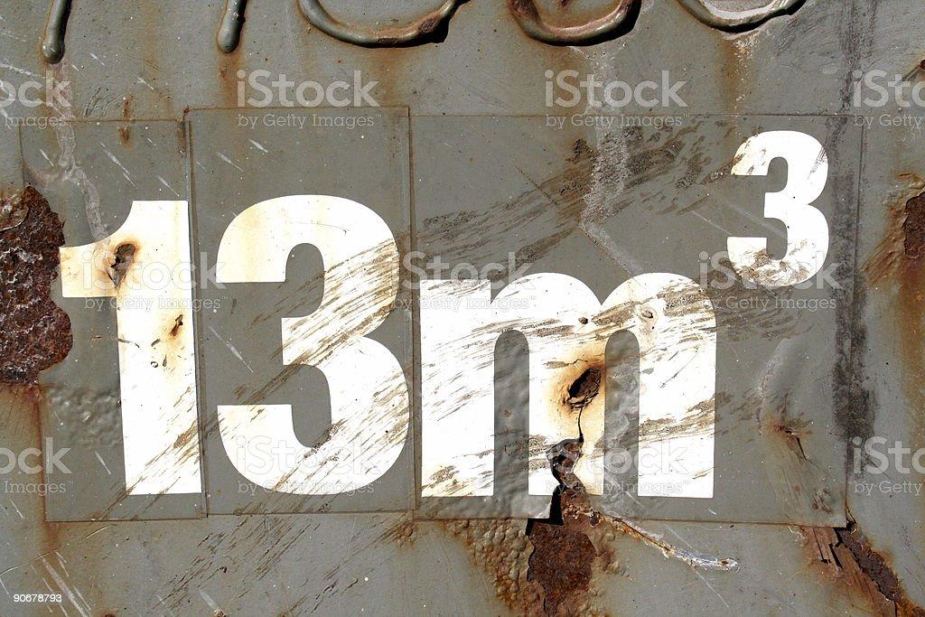 Thirteen royalty-free stock photo