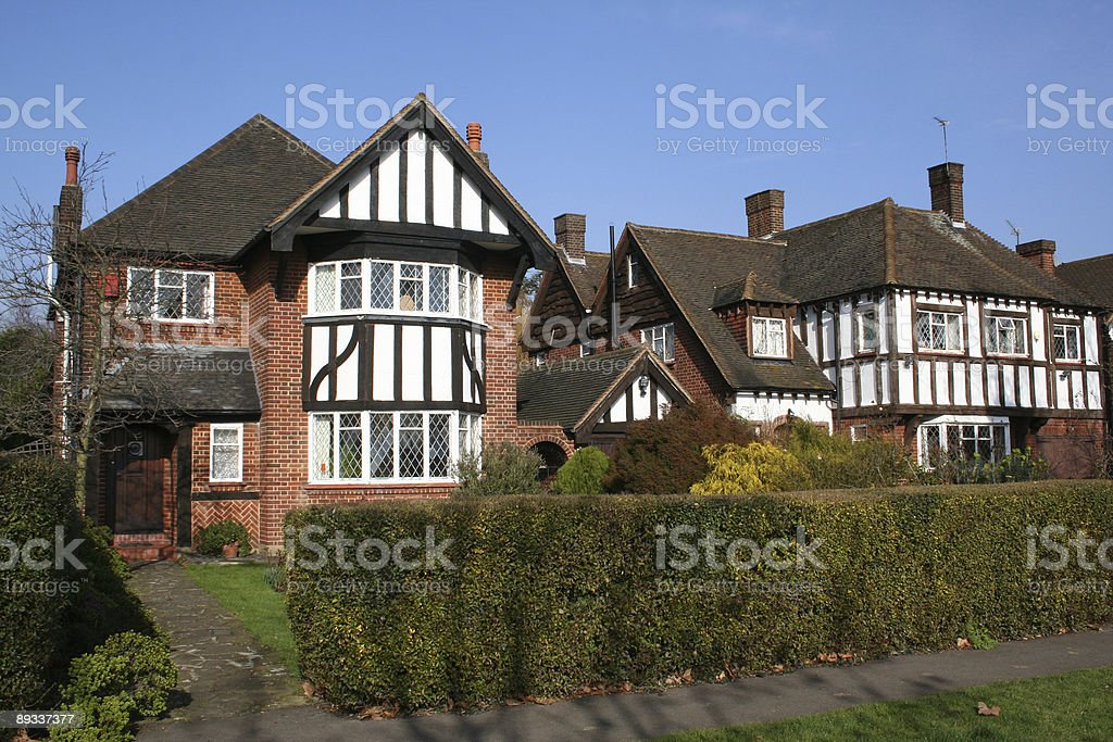 Thirties London town houses royalty-free stock photo