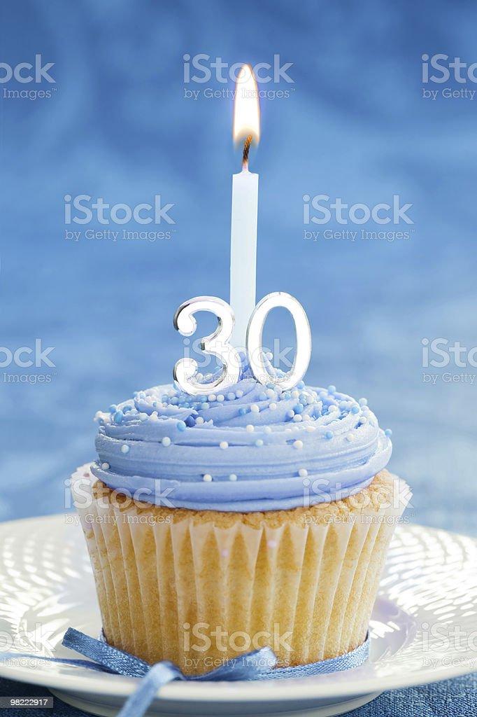Thirtieth birthday cupcake royalty-free stock photo