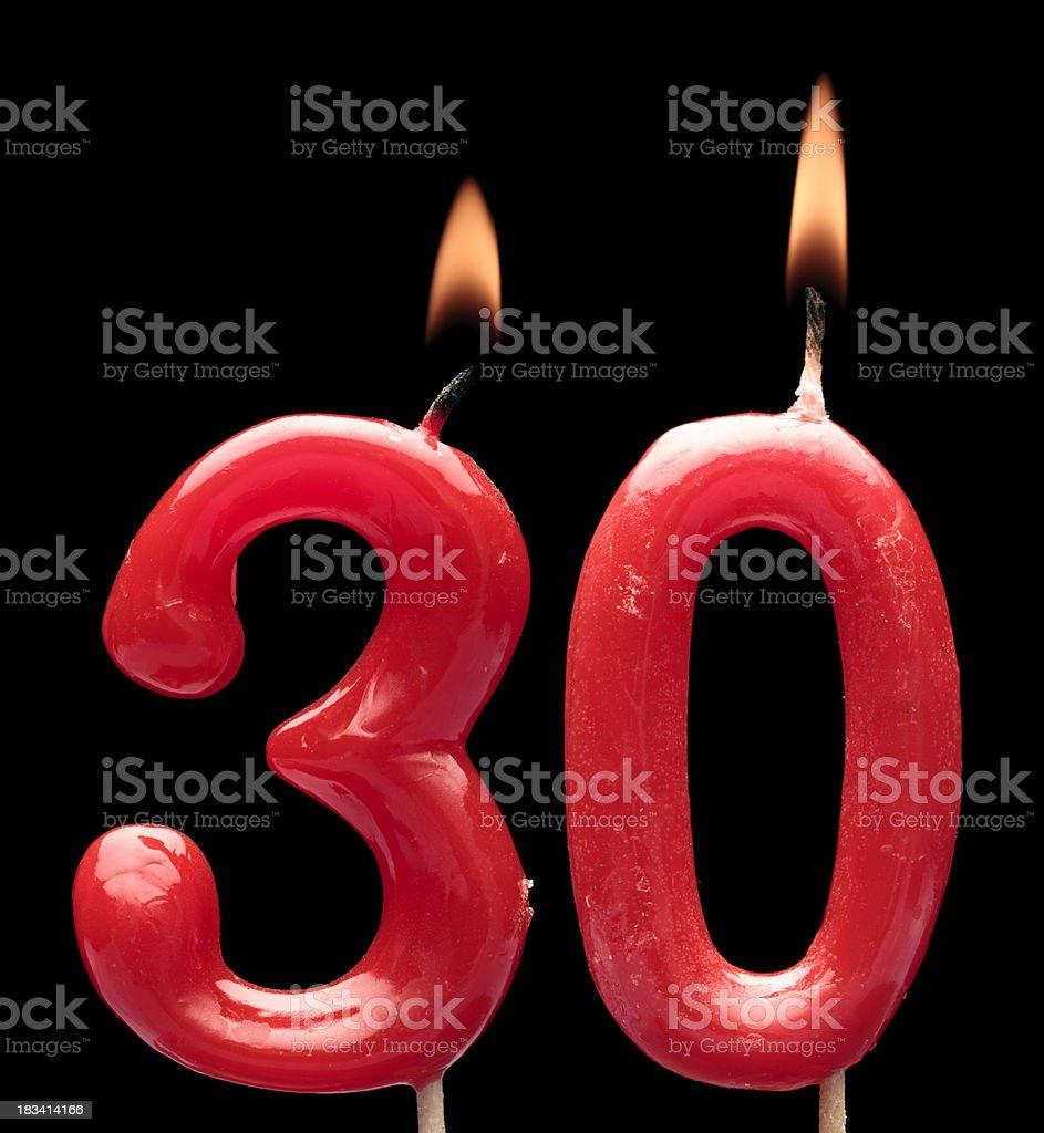 Treinta aniversario - foto de stock
