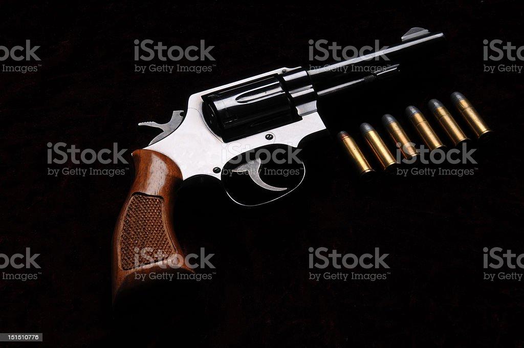 thirty eight calibre revolver stock photo