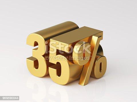 906580458 istock photo Thirty Five Percent Off Discount Symbol 959590044