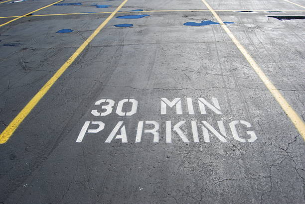 Thirty Minute parking stock photo