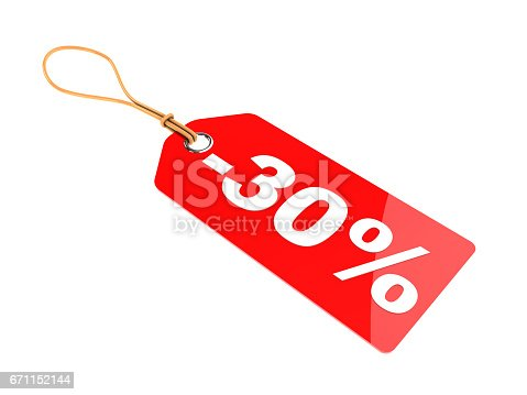 istock thirty percent discount tag 671152144