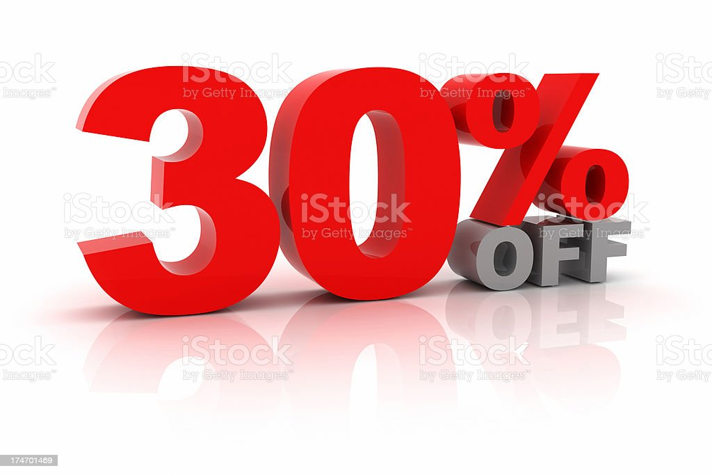 Thirty Percent Off royalty-free stock photo