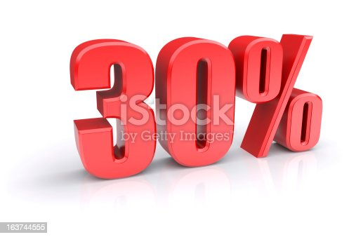 istock Thirty percent sign 163744555