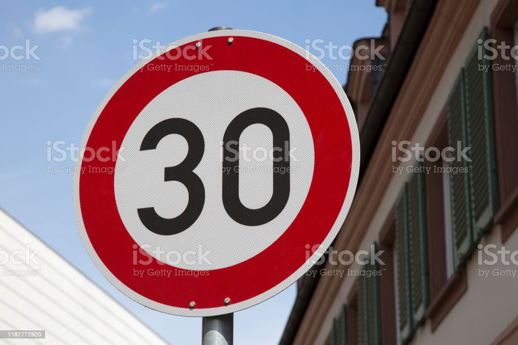 Thirty Sign in Urban City
