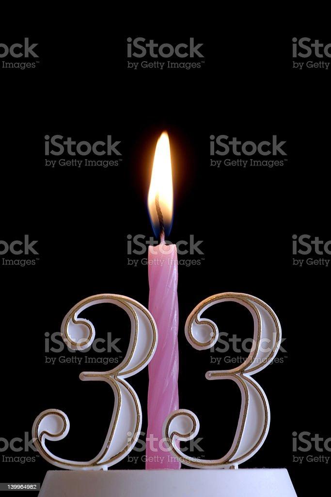 thirty three birthday stock photo