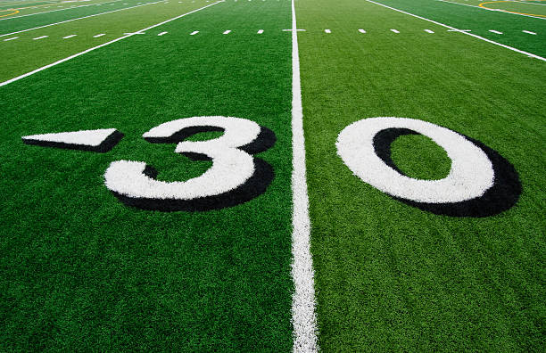 Thirty Yard Line stock photo