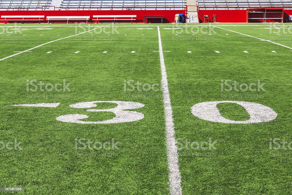 Thirty yard line royalty-free stock photo