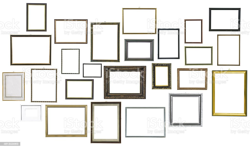 This 25 pictures frames for your 25th anniversary stock photo
