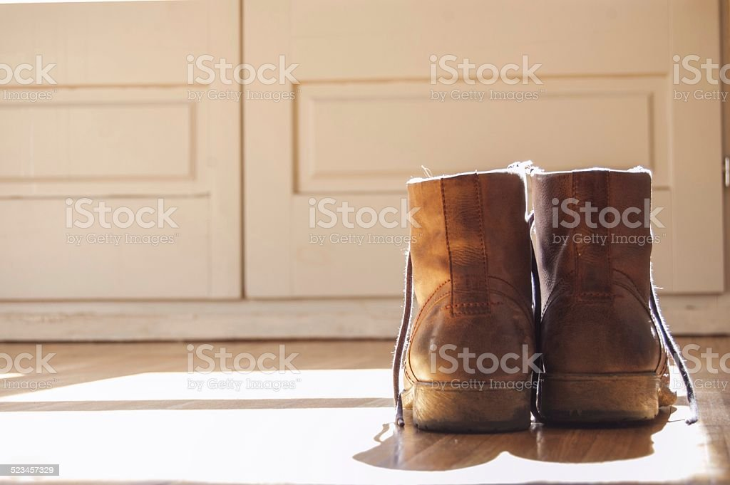 This boots are made for walking stock photo