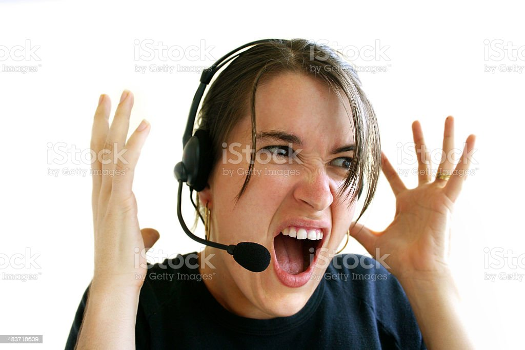 This Caller is Driving Me Crazy! royalty-free stock photo