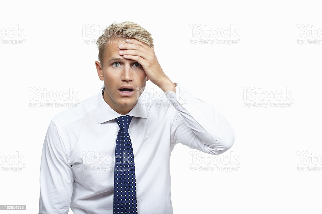This can't be happening royalty-free stock photo