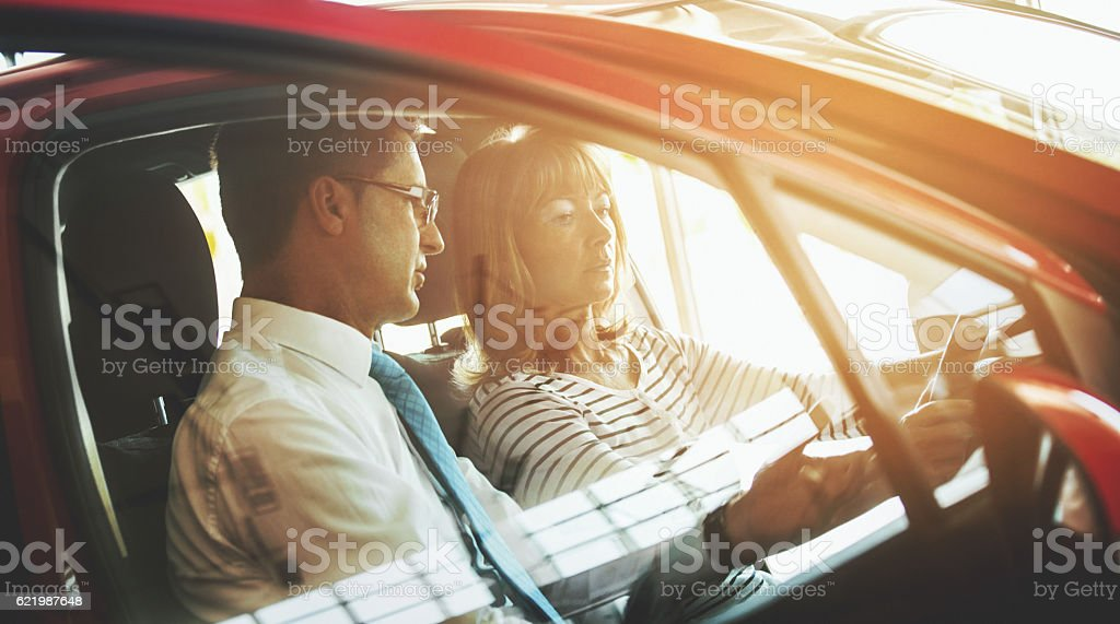 This car has these features. stock photo