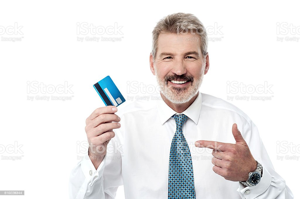 This card is under unlimited usage! stock photo